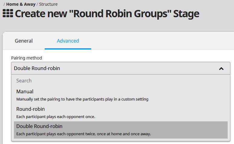 round robin format