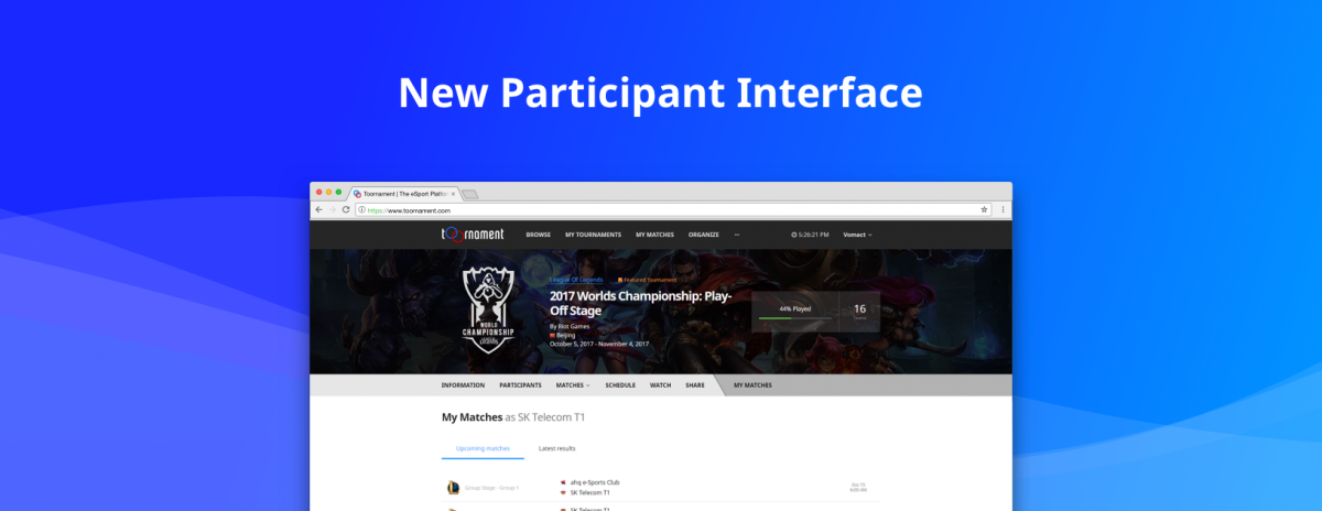 Welcome to the new Participant Interface!