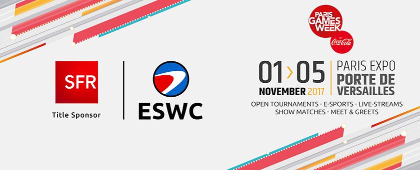 Paris Games Week 2017: ESWC is back!