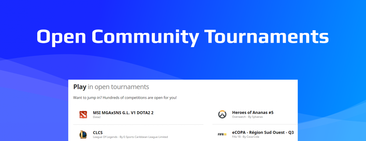 Here are some Xmas Tournaments while you wait for your gifts!