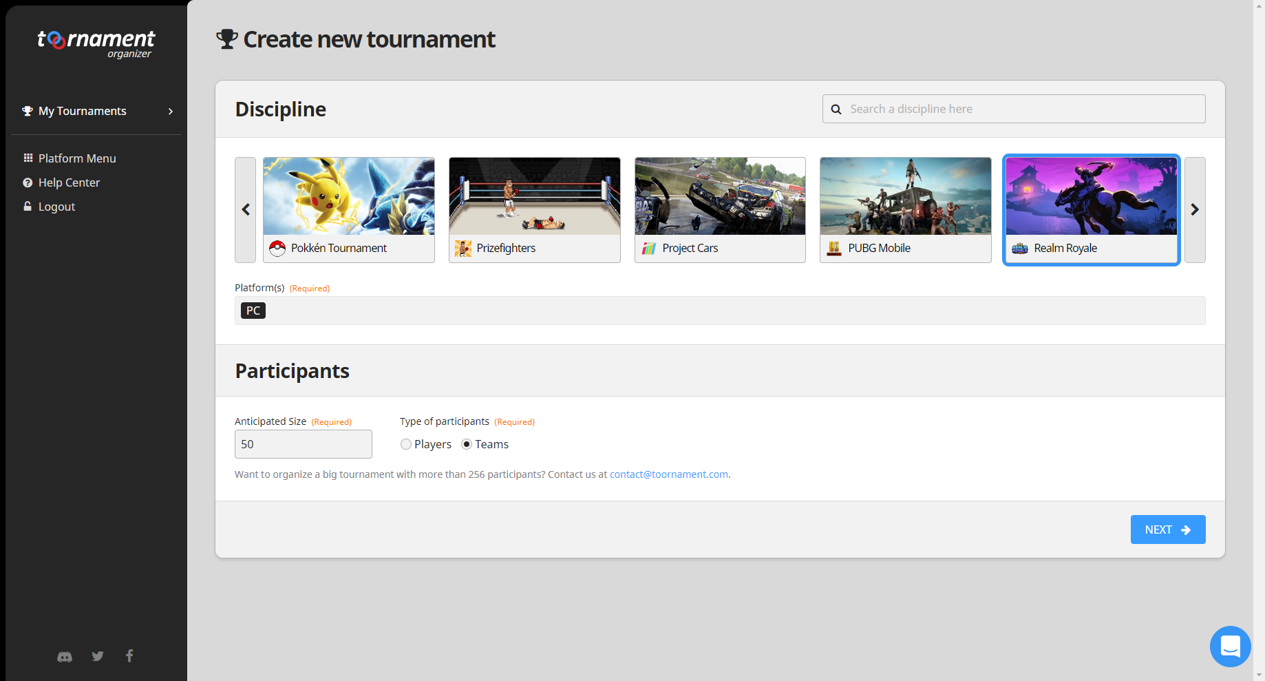 Realm Royale - Create your tournament - Toornament Knowledge Base